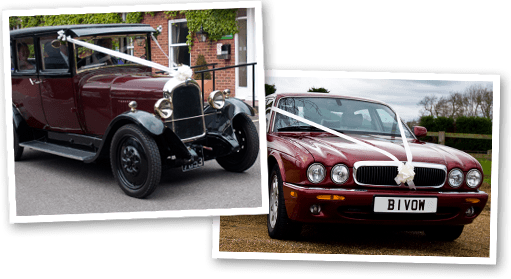 Jaguar XJ and Dorothy, our burgundy vintage Citroen