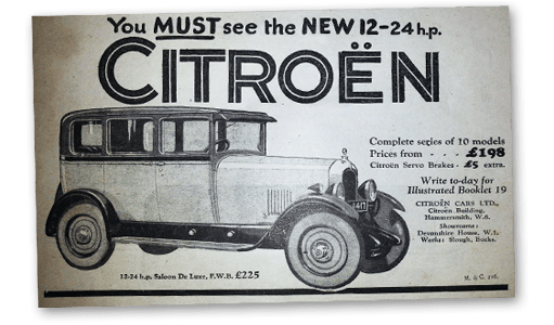 Historic Citroen Advert