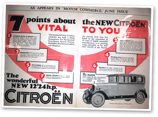 Historic Citroen adverts