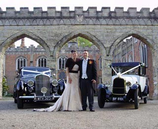 Posing for photos with the classic Bentley and Harriet Photo by Just-Shoot-Me Photography - http://www.just-shoot-me.co.uk