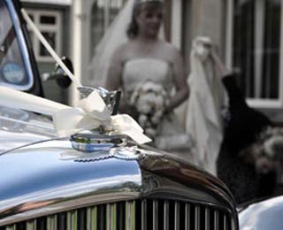 The stunning front grill of the classic Bentley. Photo by Laura Rachel Photography - http://www.laurarachel.co.uk