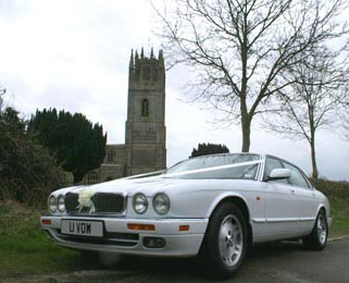 Our Jaguar XJ is perfect for couples wanting a more traditional white wedding vehicle.