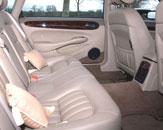 The wonderful leather interior makes for a very comfortable wedding journey. Photo by Just-Shoot-Me Photography - http://www.just-shoot-me.co.uk