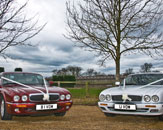 Our two Jaguar XJs make perfect modern wedding cars whilst retaining a classic feel. Photo by Just-Shoot-Me Photography - http://www.just-shoot-me.co.uk