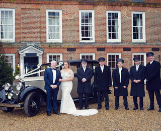 A collection of our friendly chauffeurs at our daughter's wedding.