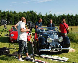 A wider view of the John Nettles interview - our cars are normally available for TV and film purposes if required.