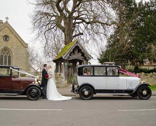 Arriving at the church as lead car. Photo by Laura Rachel Photography - http://www.laurarachel.co.uk
