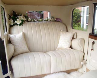 The newly comissioned ivory leather interior is a luxurious place to be.