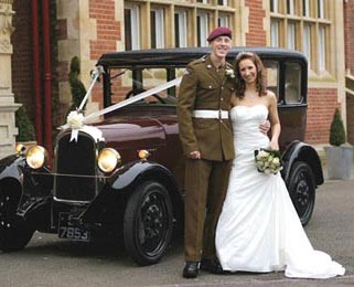 A happy couple with our Vintage Citroen. Photo by Mikaela Morgan - http://www.mikaelamorgan.co.uk/