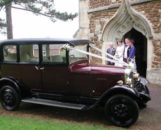 Our Vintage Citroen looks great in wedding photos.