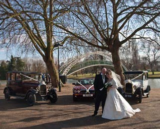 Harriet, our white Vintage Citroen, with Dorothy (our burgundy Vintage Citroen) and our new burgundy Jaguar XJ in the sun outside Bletchley Park. Photo by Just-Shoot-Me Photography - http://www.just-shoot-me.co.uk