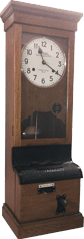 Historic checking in clock from the Rolls Royce Factory